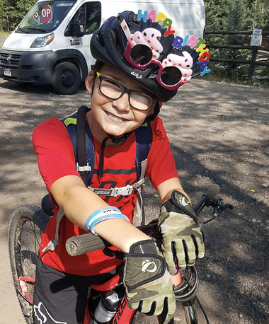 Young girl at Mountain Bike Camp in Vail